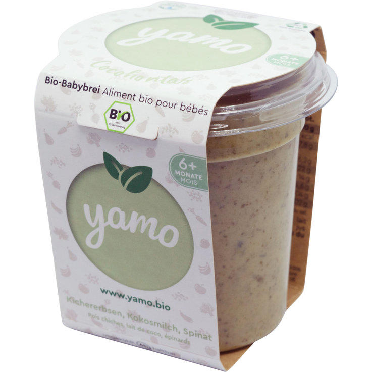 Vegetable Baby Food - yamo Organic Cocohontas Compote Pouch 6 Months+