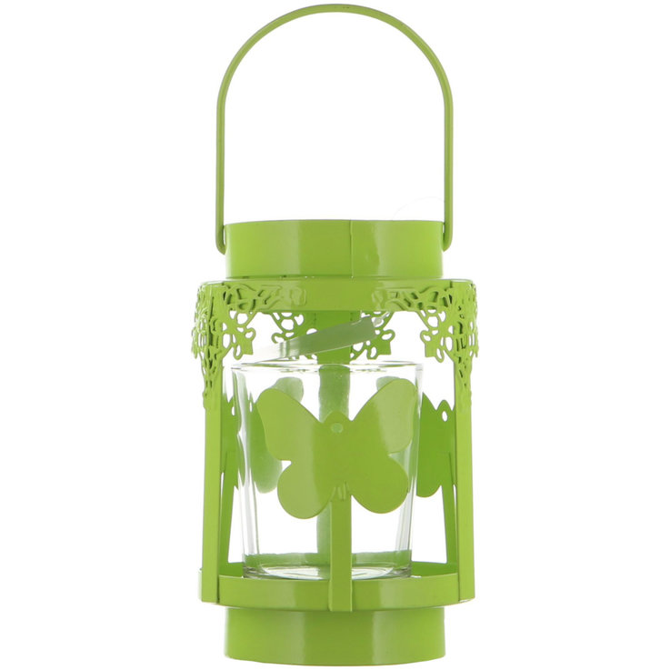 Decoration - Lantern with Green Butterflies