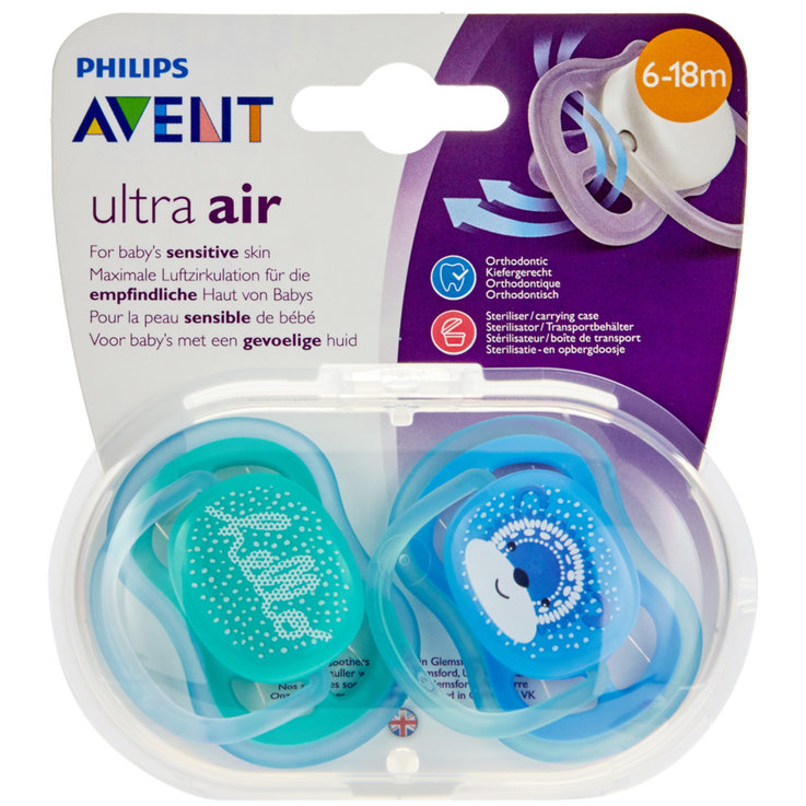 Pacifiers - Avent Ultra Air Pacifiers 6-18 Months 2 Pieces