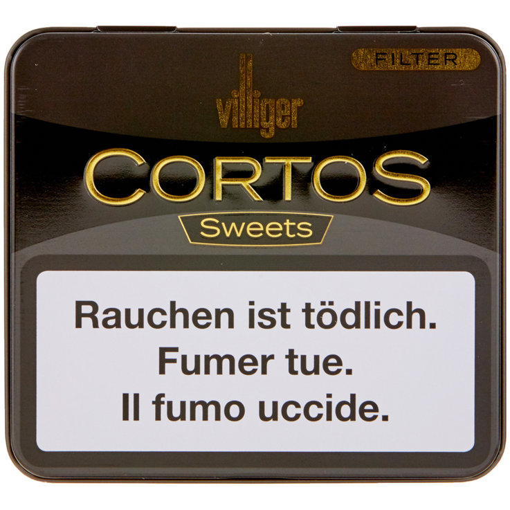 Filter - Villiger Cortos Sweets Cigars with Filter 10 Pieces