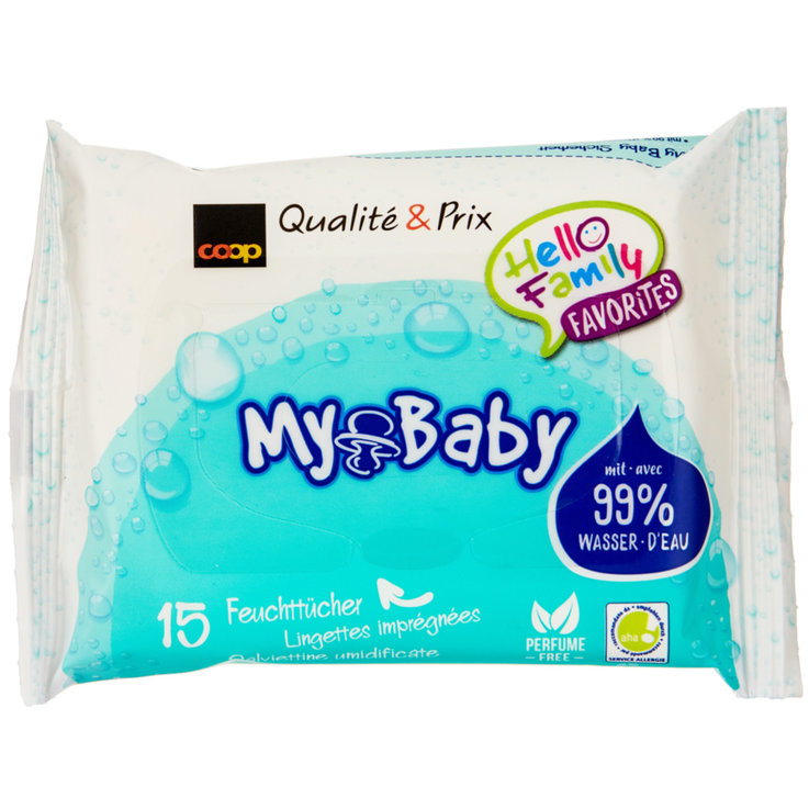 Wet Wipes - My Baby Water Wipes wet wipes travel pack, 15 wipes