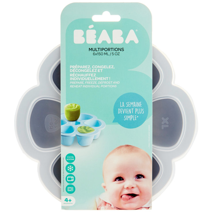 Kids'' Tableware - Beaba Silicone Baby Food Containers 6x150ml 4 Months+