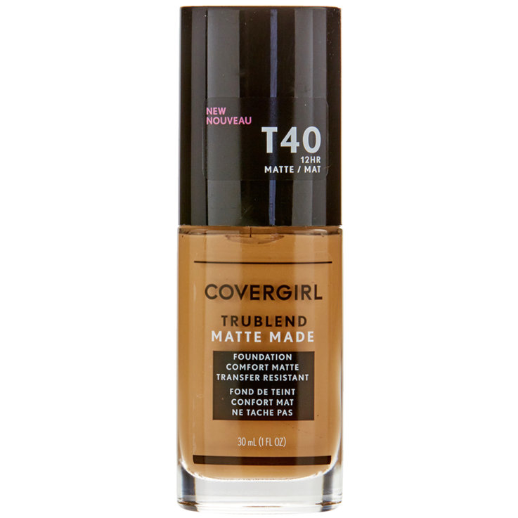Face - CoverGirl TruBlend Matte Made T40 Sun Beige Liquid Foundation