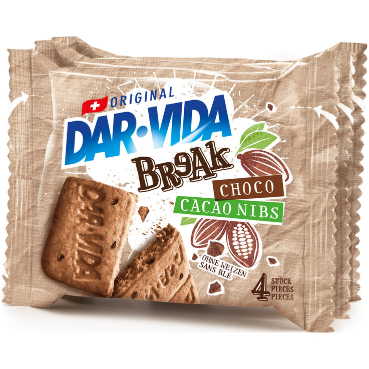 Sucrés - Dar-Vida Crackers Break au chocolat & nibs de cacao