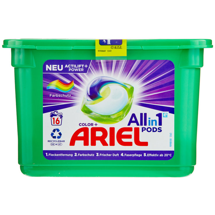 Colour - Ariel All-in-1 Color Laundry Detergent Tabs 16 Loads