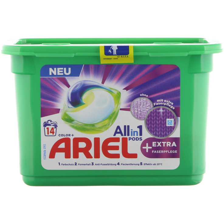 Universal & White - Ariel All-in-1 Pods Extra Faser, 14WG