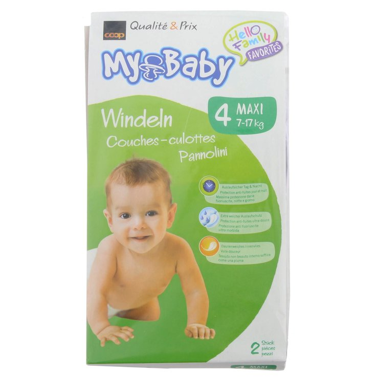 7 - 20 kg - My Baby Maxi 4 Diapers 7-17kg 2 Pieces