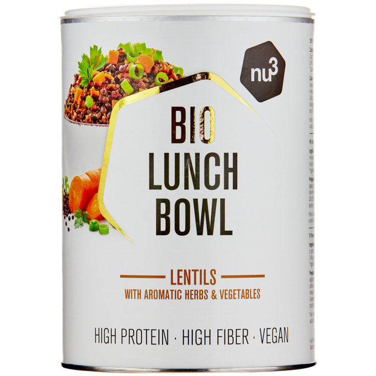 Lentils, Beans & Grains - nu3 Organic Flax Seed Lunch Bowl