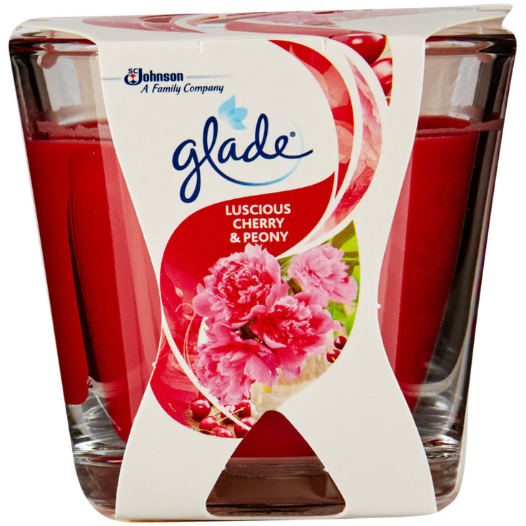 Scented Candles - Glade Small Cherry & Peony Scented Candle