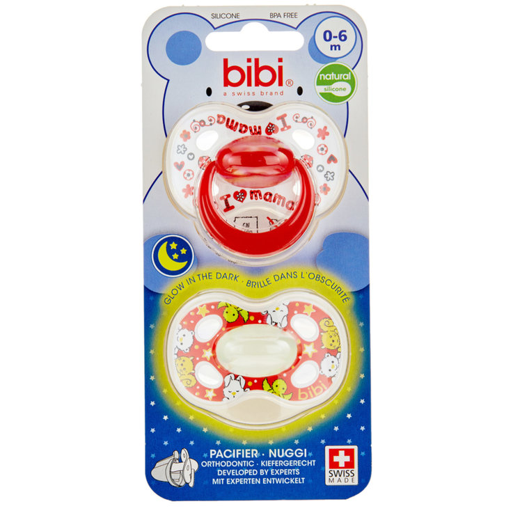 Pacifiers - Bibi Natural Day&Night Pacifiers 0-6 Months 2 Pieces