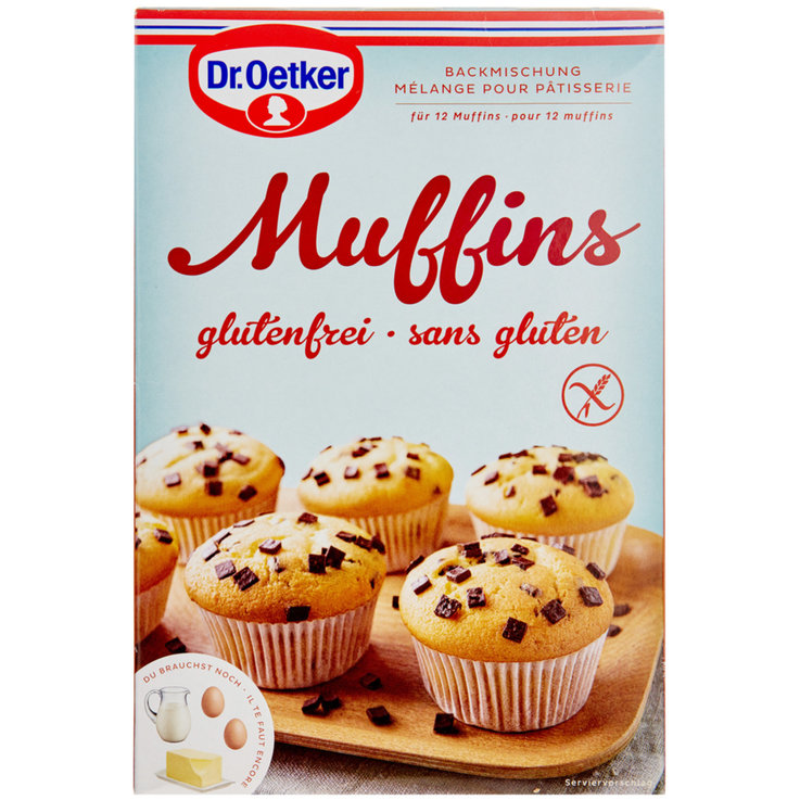 Baking Mixtures - Dr. Oetker Gluten Free Muffin Mix