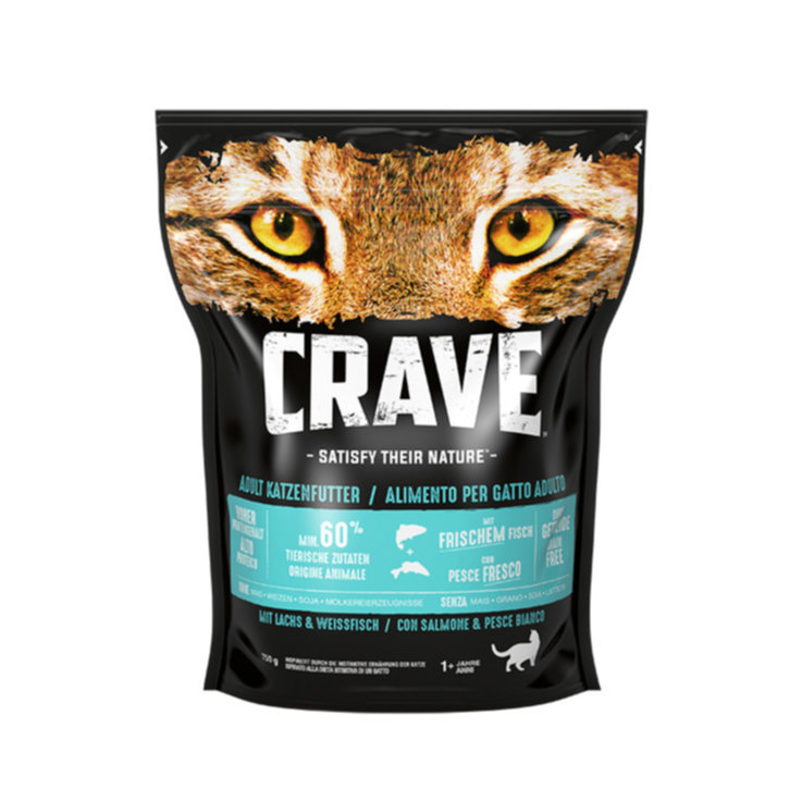 Crocchette - Crave Cat Adult Salmon & Whitefish 750g