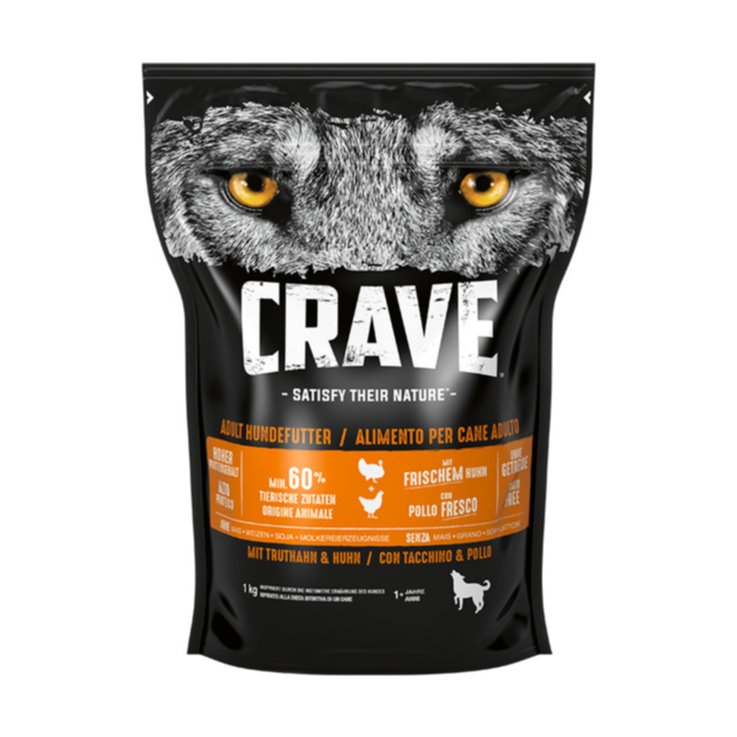 Dry Food - Crave Dog Dry Adult Truthahn & Huhn 1kg