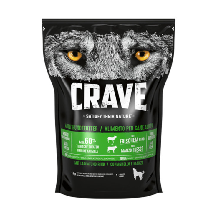 Crocchette - Crave Dog Dry Adult Agnello & Manzo 1kg