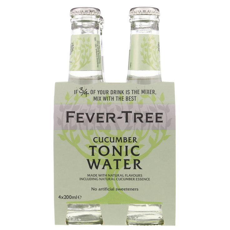 Citron amer & Eau tonique - Fever Tree Tonic Water au concombre 4x20cl