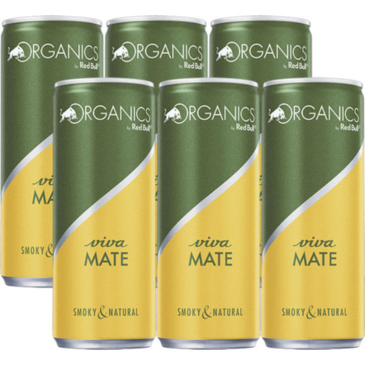 Energy Drinks - Red Bull Organics Mate Energy Drink 6x  25cl