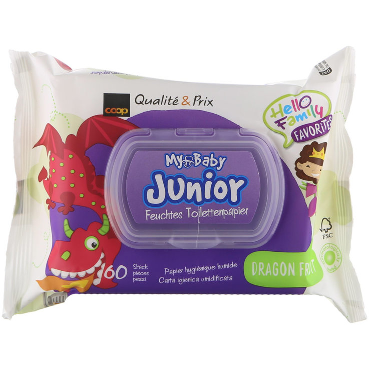 Wet Wipes - My Baby Junior Dragon Fruit wet toilet wipes, 60 wipes
