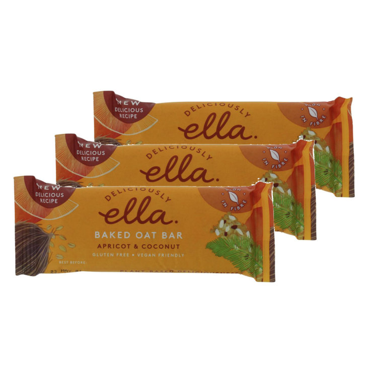 Bars without Chocolate - Deliciously Ella Apricot Coconut Cereal Bar 3x  50g