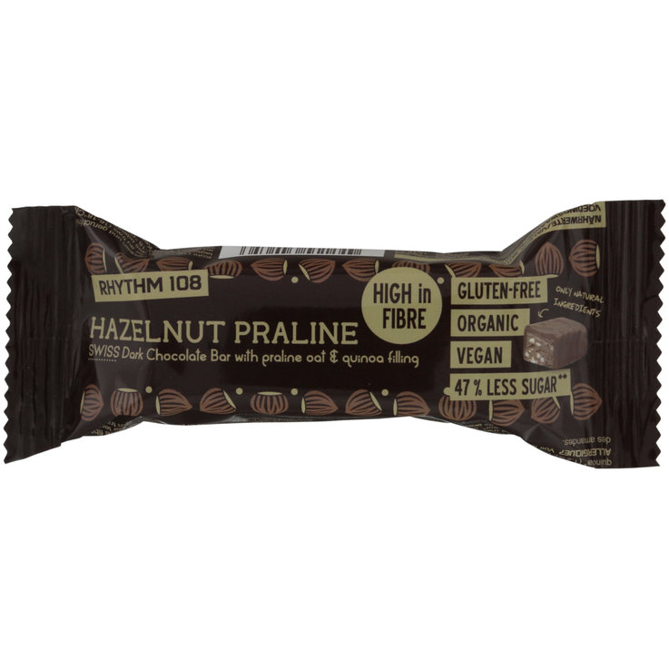 Bars with Chocolate - Rhythm 108 Dark Praline Hazelnut Bar