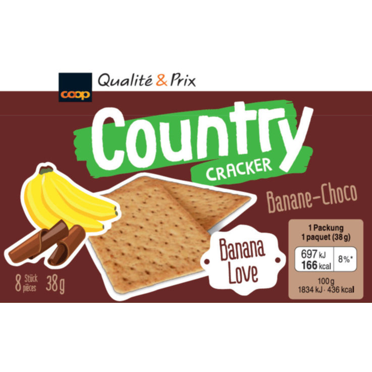 Sucrés - Country Crackers à la banane & chocolat