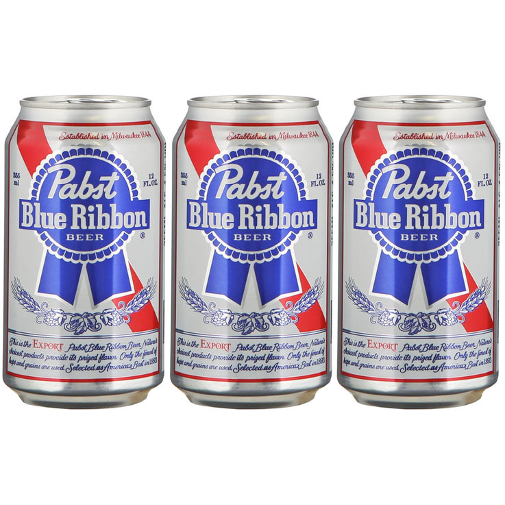 Cans - Pabst Blue Ribbon Beer 3x35.5cl 3x  35.5cl