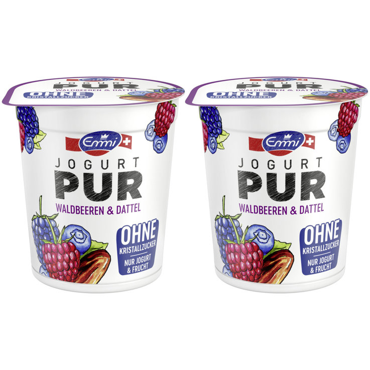 Forest & Garden Berries - Emmi Pur Wildberry Date Yogurts 2x150g
