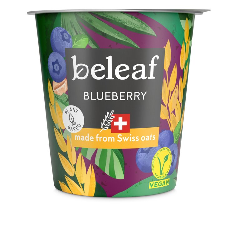 Baies - Yogourt à l'avoine Emmi Beleaf Blueberry