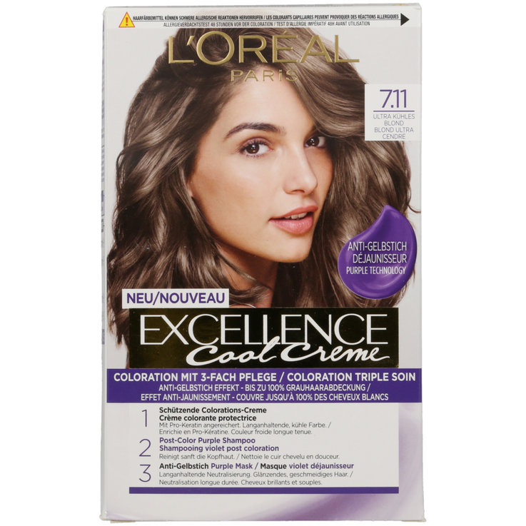 Blondes - Excellence Ultra Cool 7.11 Blond Hair Colour