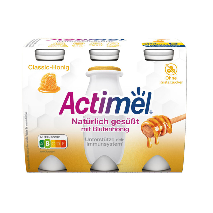 Vanille, Caramel & Honig - Actimel Honey Nature 6x100g