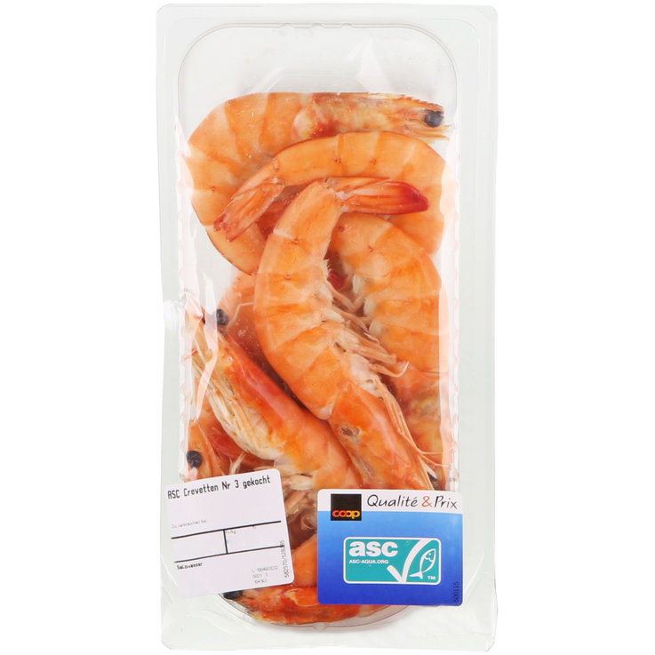 Shellfish & Seafood - ASC no. 3 Cooked Whole Shrimp ca. 250g