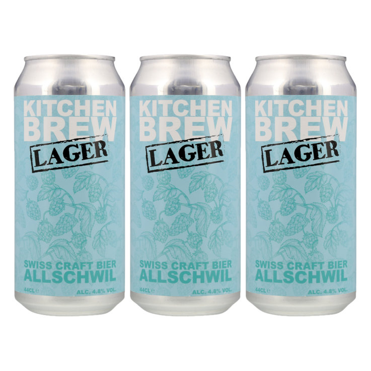 Cans - Kitchen Brew Lager Beer 3x  44cl