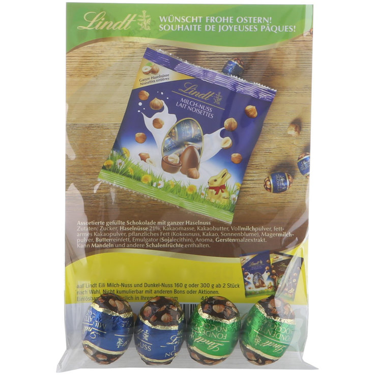 Chocolate Eggs - FREE - Lindt mini eggs milk hazelnut & dark hazelnut